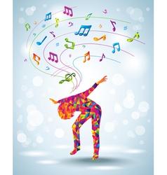 Dancing young girl vector image vector image