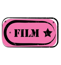 film stamp vector image