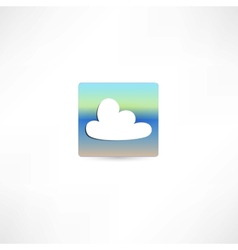 One white cloud vector image vector image