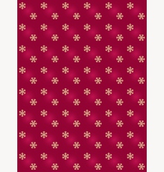 red pattern with golden snowflakes vector image vector image
