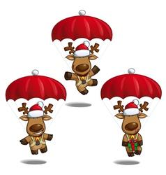 Santas elks parachute vector