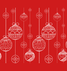 seamless texture with doodle balls garlands vector image