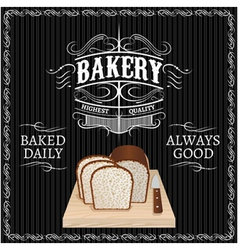 background with bread for a bakery vector image vector image