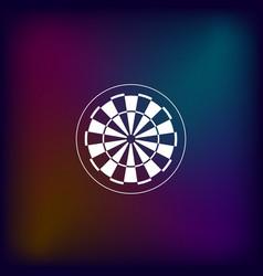 dart board symbol icon vector image