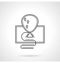 Festive balloon black flat line icon vector image