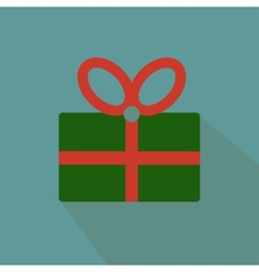 Nice and funny present on the blue background vector image