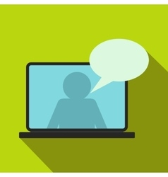 Online chat icon flat style vector