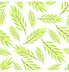 bright tropical leaves watercolor seamless vector image