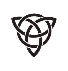 Flat icon in black and white celtic symbol vector image