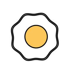Fried egg breakfast food vector