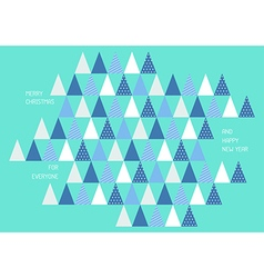 Merry christmas and Happy new year with triangle vector image