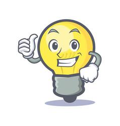 Proud light bulb character cartoon vector