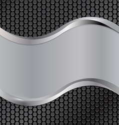 wave silver black vector image