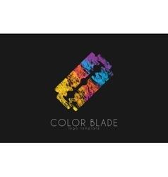 Blade razor logo blade logo color blade vector