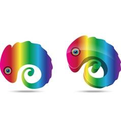 Chameleon business logo vector image