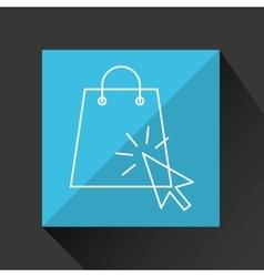Concept e-commerce cart and bag shop design vector