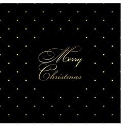 Golden Christmas pattern vector image