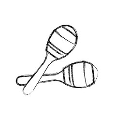 maracas music instrument vector image vector image