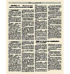 Old newspaper Vintage magazine page Yello vector image