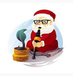 Snake Charmer Santa Claus vector image vector image