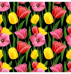 Tulip seamless background vector image vector image