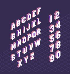 alphabet letter symbols and numbers set design vector image
