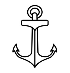 anchor drawing tattoo style isolated icon vector image