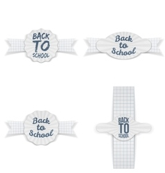 Back to School paper Labels Set vector