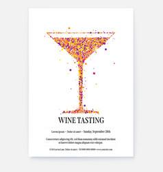 banner for wine festival poster for wine tasting vector image