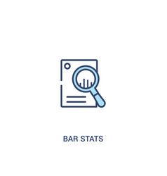 Bar stats concept 2 colored icon simple line vector
