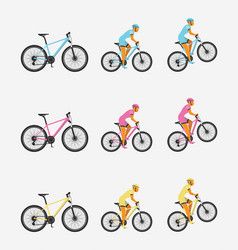 bike and cyclist vector image