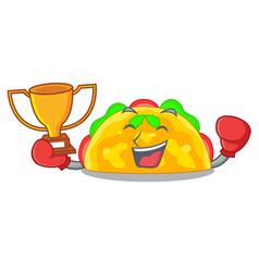 boxing winner omelatte fried isolated on the vector image