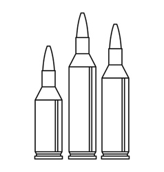 Bullet ammunition icon outline style vector