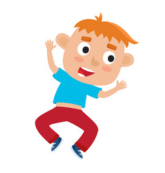cartoon of little redhaired vector image