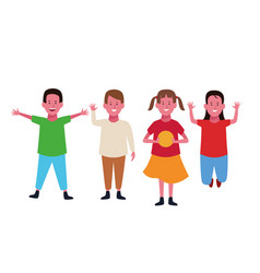 children having fun vector image