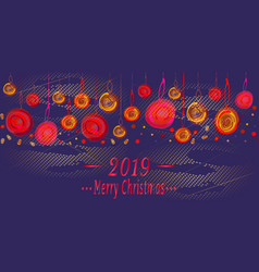 christmas design for greeting card vector image