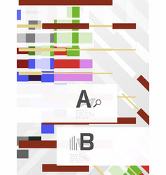colorful lines rectangles and stripes with option vector image