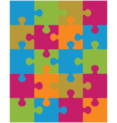 Colorful shiny puzzle vector