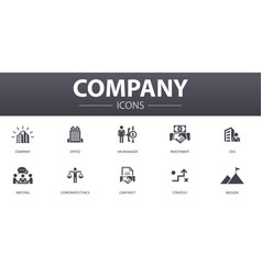 Company simple concept icons set contains such vector