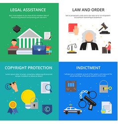 conceptual pictures of criminal justice vector image