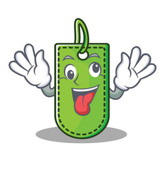 Crazy price tag mascot cartoon vector