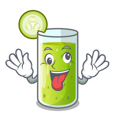 Crazy sweet cucumber juice isolated on mascot vector