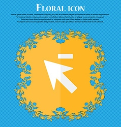 Cursor arrow minus icon sign Floral flat design on vector