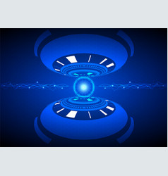 cyber security technology background composed vector image