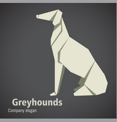 Dog breed greyhounds origami vector