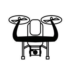 drone with action camera front view technology vector image