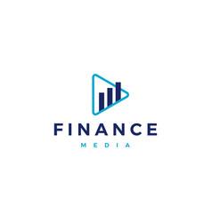 finance financial media play video tutorial vector image