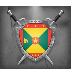 Flag of Grenada Medieval Background vector