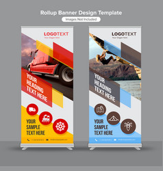 geometric shapes roll up banners vector image