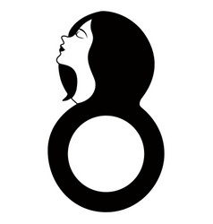 girl avatar with number eight happy women day vector image